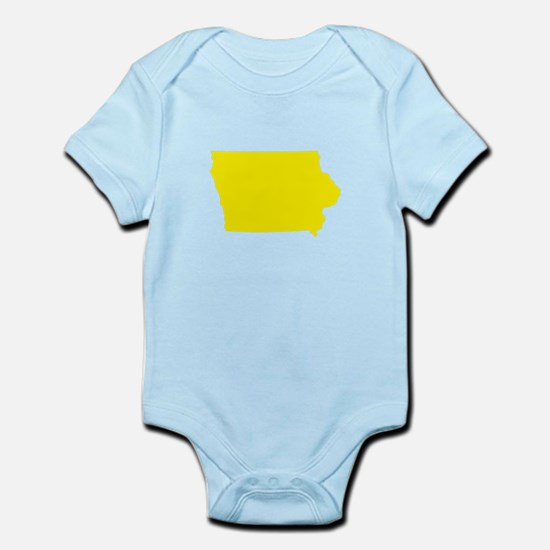 Yellow Iowa Infant Bodysuit