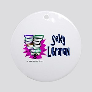 Sexy Librarian Ornament (Round)