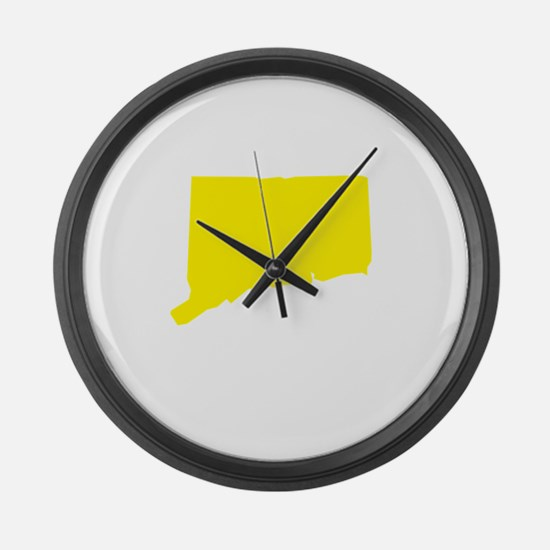 Yellow Connecticut Large Wall Clock