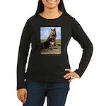 Malamute Sweetness Women's Long Sleeve Dark T-Shir