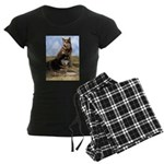 Malamute Sweetness Women's Dark Pajamas