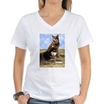 Malamute Sweetness Women's V-Neck T-Shirt