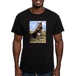 Malamute Sweetness Men's Fitted T-Shirt (dark)