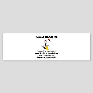 save a cigarette Sticker (Bumper)