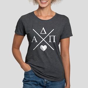 Alpha Delta Pi Cross Womens Tri-blend T-Shirt