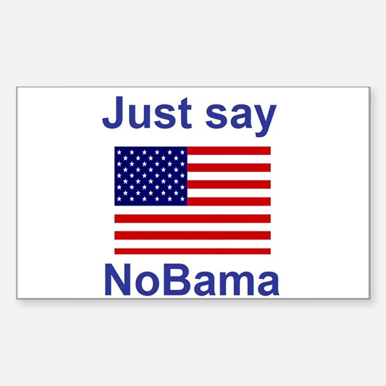 Just say NoBama Sticker (Rectangle)