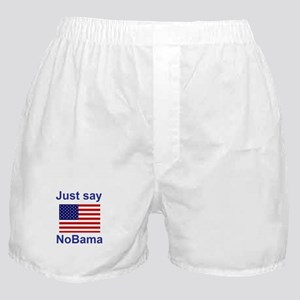 Just say NoBama Boxer Shorts