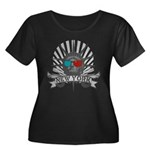 Liberty Women's Plus Size Scoop Neck Dark T-Shirt