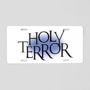 Holy Terror Aluminum License Plate