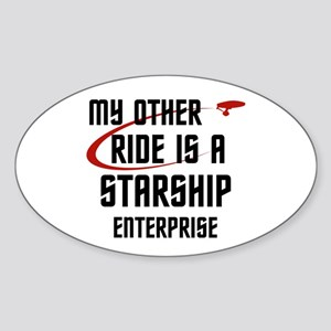 My other ride is a Star Ship Sticker (Oval)
