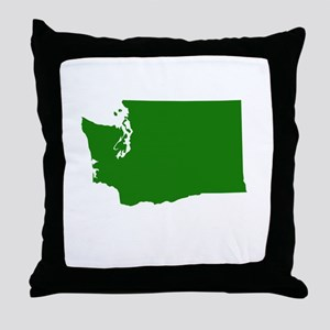 Green Washington Throw Pillow