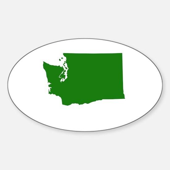 Green Washington Sticker (Oval)