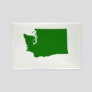 Green Washington Rectangle Magnet