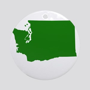 Green Washington Ornament (Round)