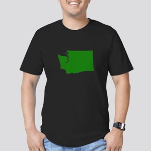 Green Washington Men's Fitted T-Shirt (dark)