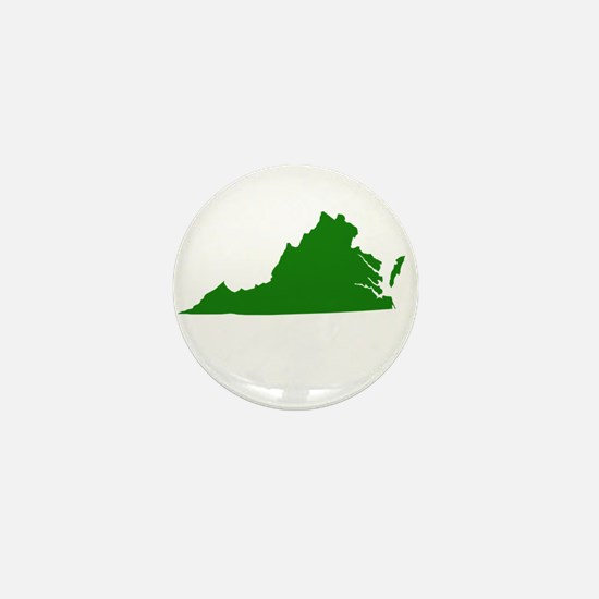 Green Virginia Mini Button