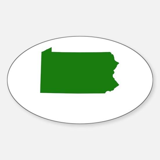 Green Pennsylvania Sticker (Oval)