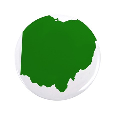 "Green Ohio 3.5"" Button"