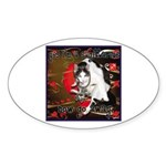 Cat Sagittarius Sticker (Oval 10 pk)