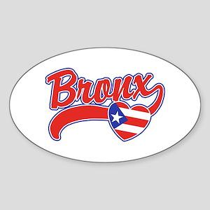 Bronx Puerto Rican Sticker (Oval)