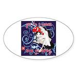 Cat Pisces Sticker (Oval 50 pk)
