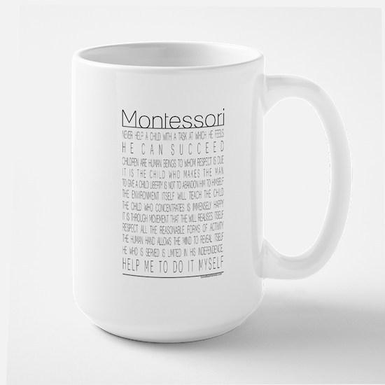 Maria Montessori Quotes Large Mug