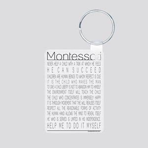Maria Montessori Quotes Aluminum Photo Keychain