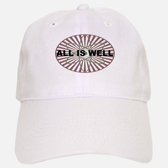 All is Well Atom - Red Baseball Baseball Cap
