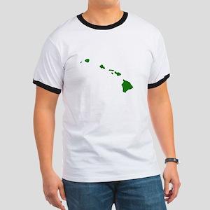 Green Hawaii Ringer T