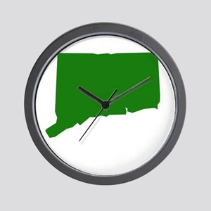 Green Connecticut Wall Clock