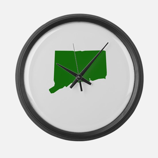 Green Connecticut Large Wall Clock