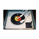 Vinyl record and vintage 1960s record player turnt