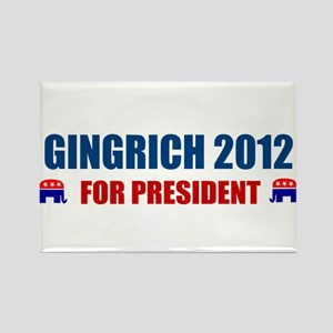 NEWT GINGRICH 2012 FOR PRESID Rectangle Magnet