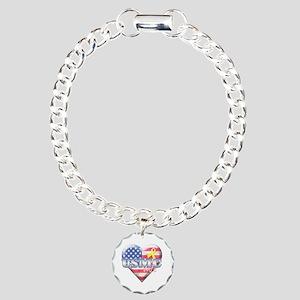 USMC Wife - Charm Bracelet, One Charm