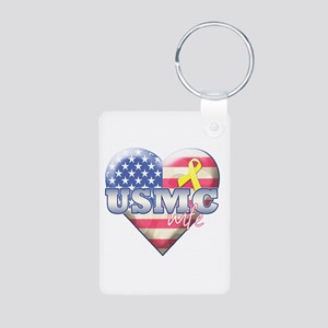 USMC Wife - Aluminum Photo Keychain