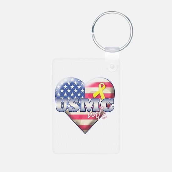 USMC Wife - Keychains