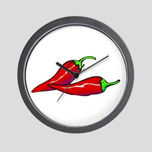 Red Hot Peppers Wall Clock