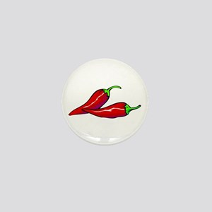 Red Hot Peppers Mini Button