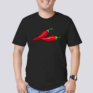 Red Hot Peppers Men's Fitted T-Shirt (dark)