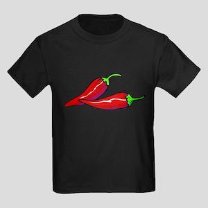 Red Hot Peppers Kids Dark T-Shirt