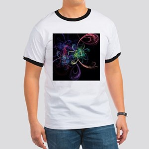 Abstract Art Space Flowers T-Shirt