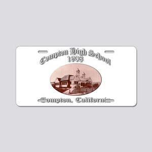 Compton High School 1908 Aluminum License Plate