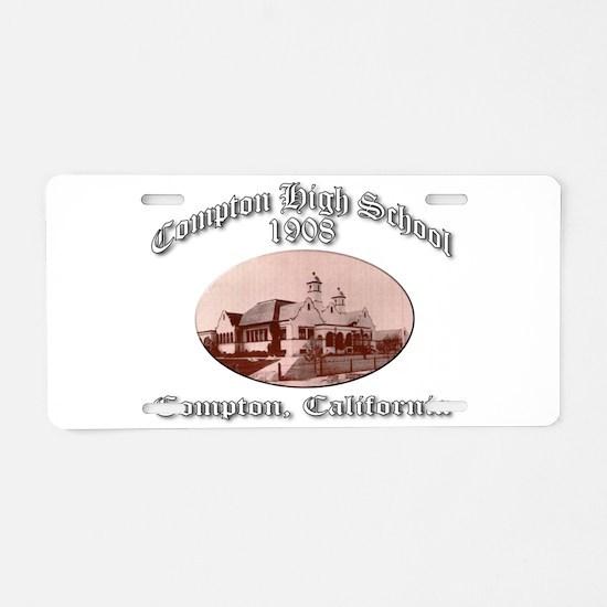Compton High School 1908 Aluminum License Plate