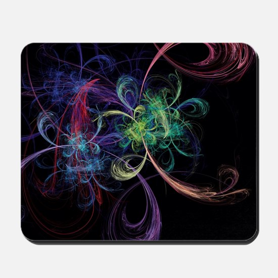 Abstract Art Space Flowers Mousepad
