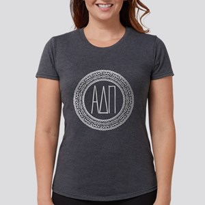 Alpha Delta Pi Medallion Womens Tri-blend T-Shirt