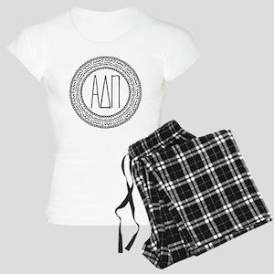 Alpha Delta Pi Medallion Women's Light Pajamas