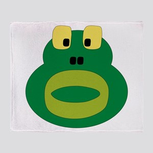 Silly Frog Throw Blanket
