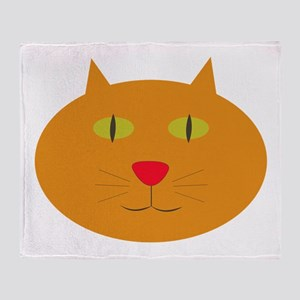 Silly Kitty Throw Blanket