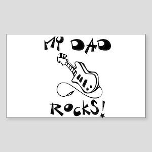 My Dad Rocks Guitar Sticker (Rectangle)