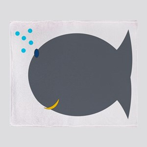 Silly Fish Throw Blanket